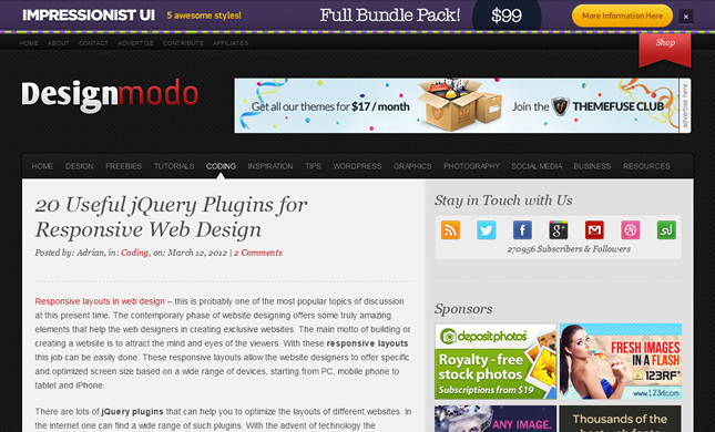 20 Useful jQuery Plugins for Responsive Web Design
