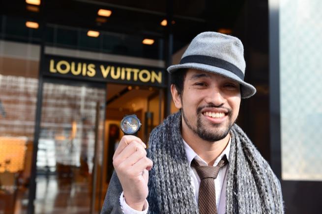 ルイ・ヴィトン。時計買ったよ。マーク・ジェイコブス。
