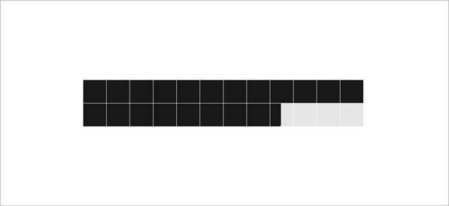 スクリーンセーバー「1px clock」のイメージ画像