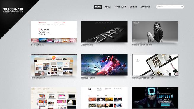.SG_BOOKMARKのギャラリーサイトのトップページ画像