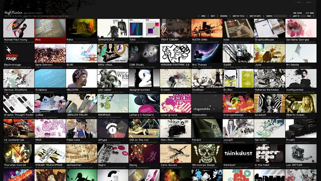 High Floaterのギャラリーサイトのトップページ画像