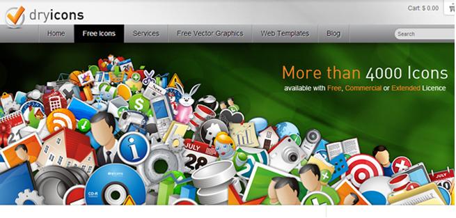 「dryicons」のトップページの画像