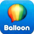 アイコンは気球をイメージ