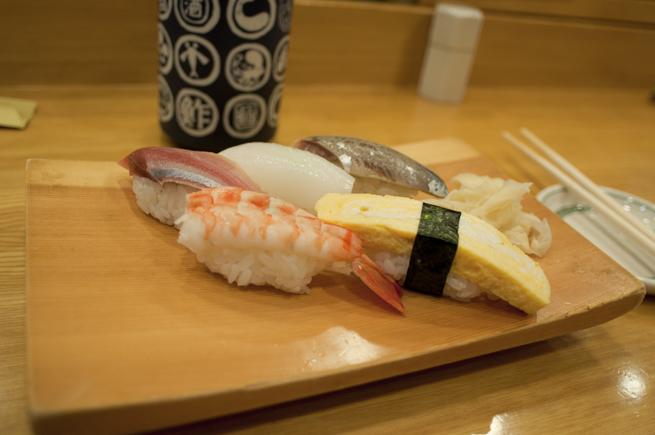 最初のお寿司