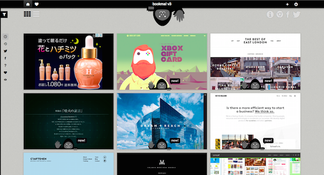 bookma! v3のギャラリーサイトのトップページ画像