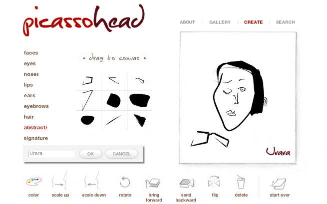 アイコンを作成するサイトpicassoheadの画像