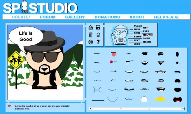 アニメ「South Park」風に仕上がるSP-Studioの画像