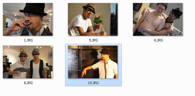 スライドショーに使用する画像の作成・選定の例