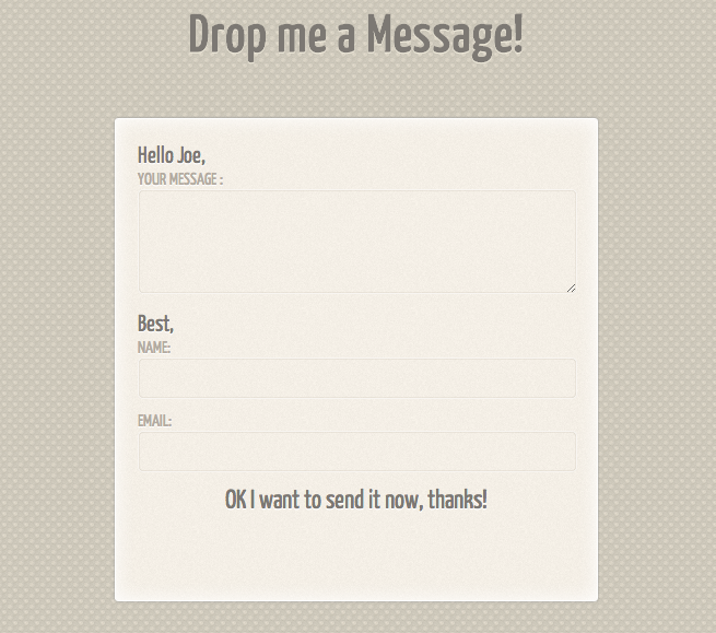 PremiumFreebies · Slick Contact Form