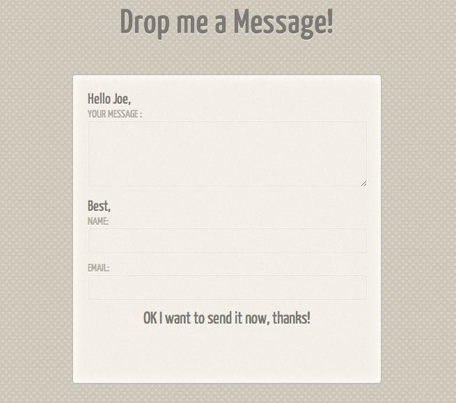 PremiumFreebies · Slick Contact Form