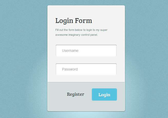 Amazing CSS3 Login Form