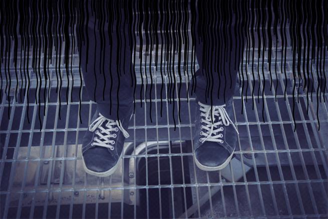 靴、くたびれている。