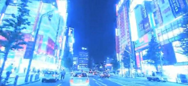 「NHKクリエイティブライブラリー」のイメージ画像・ネオン街を走る車の写真