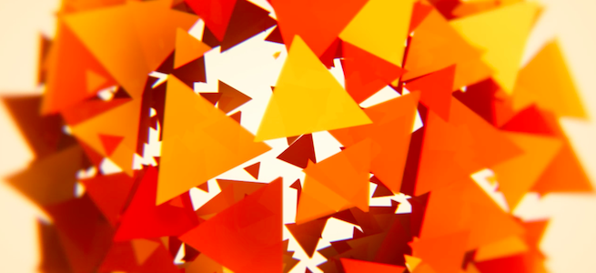 「ニコ二・コモンズ」のイメージ画像・三角形の集合体