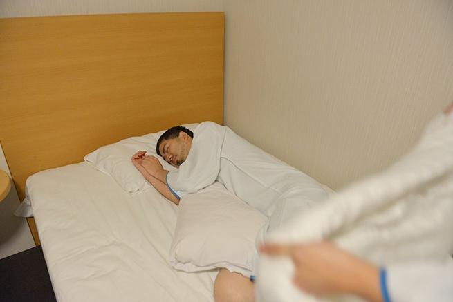男が油断する時、それが寝た時