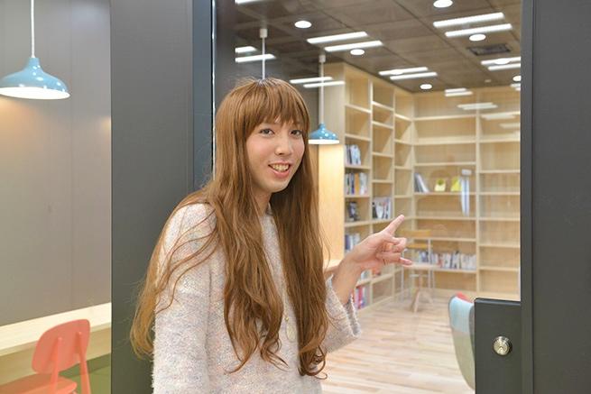 会社の中に図書館…
