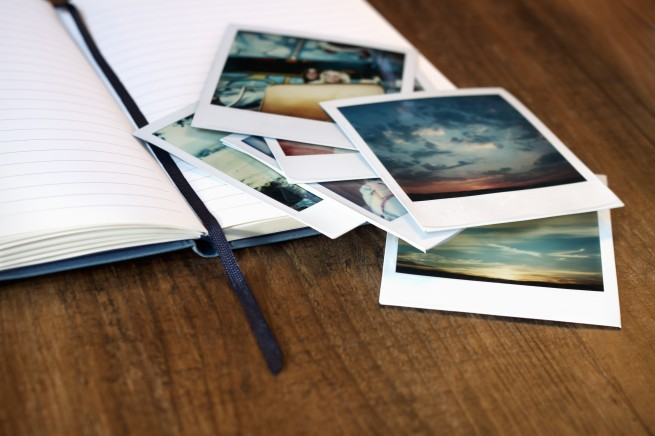 Journal and Polaroids