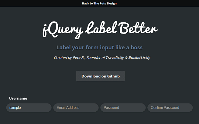 jQuery Label Better
