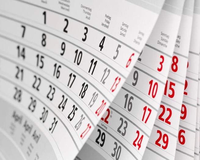 スケジュール・体制・予算をカレンダーを見ながら把握