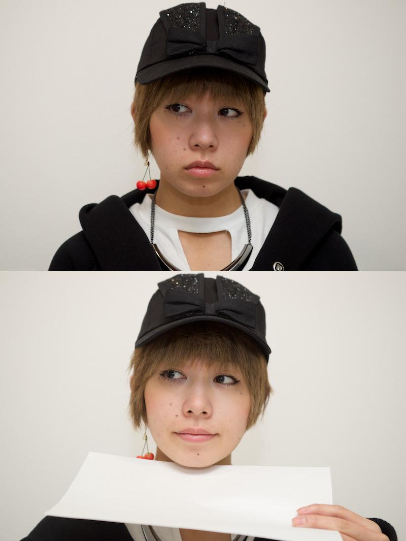 レフのない状態の写真とコピー用紙一枚をかざした状態の写真を比較した画像