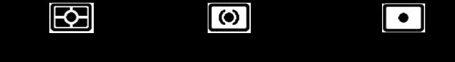 測光の3パターンを示すアイコンの画像