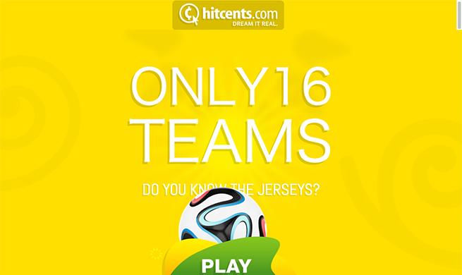 Sixteen Jerseys World Cup
