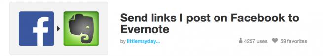 「Facebook to Evernote」で検索しないと長過ぎて出てこないのです。