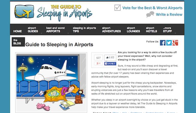 sleepin in airport