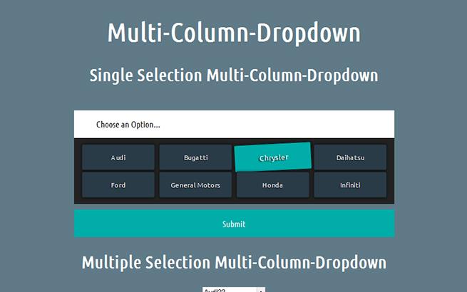 Multi-Column-Dropdown