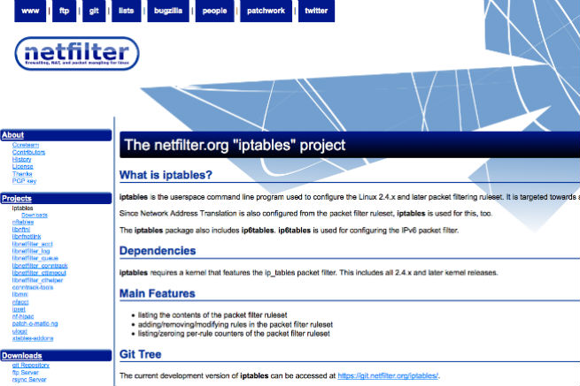 netfilter:iptables project