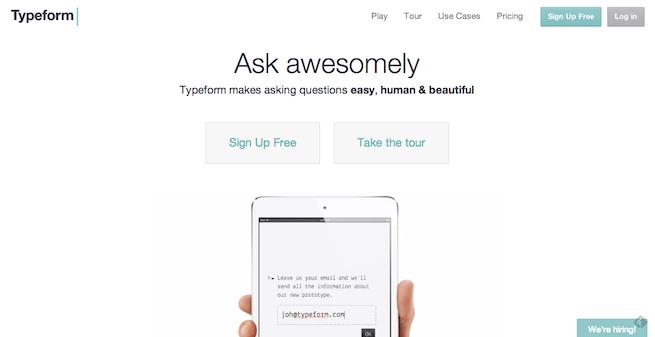 アンケート作成ツール「Typeform」