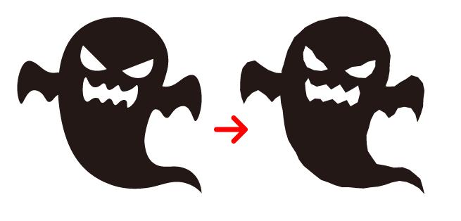 Illustratorラフでギザギザに設定したイラスト