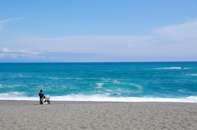 四分割法の例「海岸の画像」