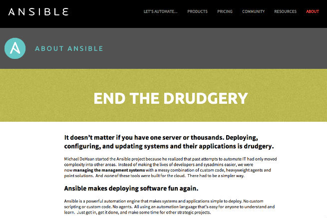 END THE DRUDGERY