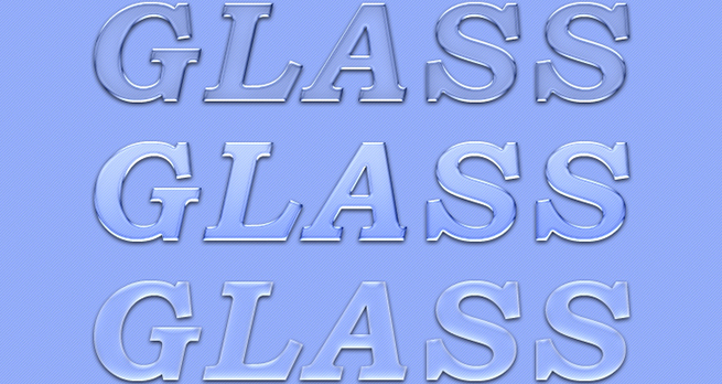 Glass Text Effects