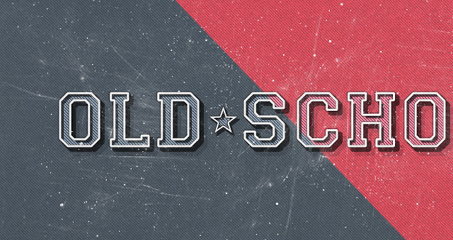 Old School Retro Psd Text Effect