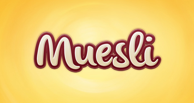 Muesli Text Effect