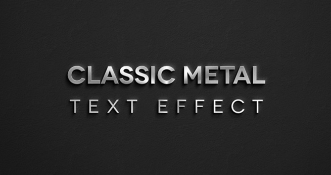 Classic Metal Psd Text Effect