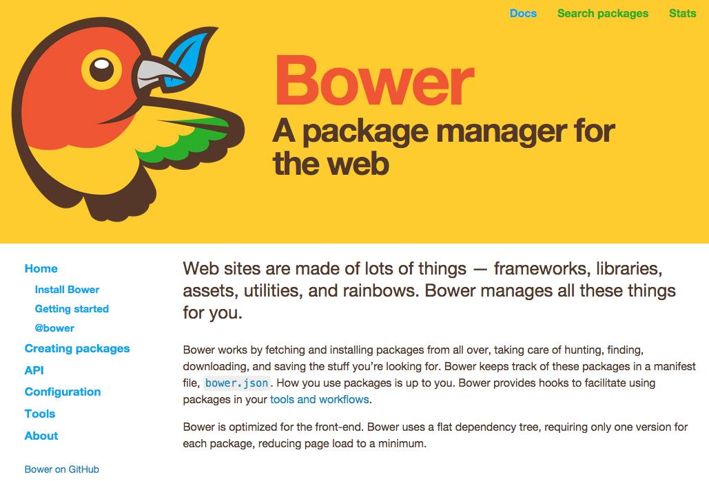 bower公式サイト