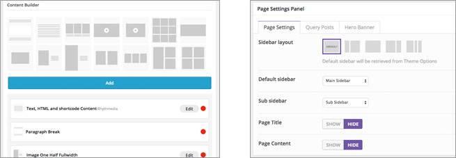 固定ページの設定画面の一例。テーマによってページの構築方法は様々。