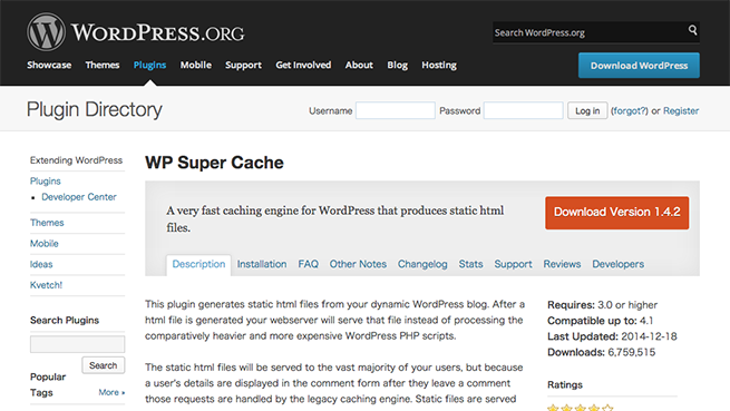 WordPress › WP Super Cache « WordPress Plugins
