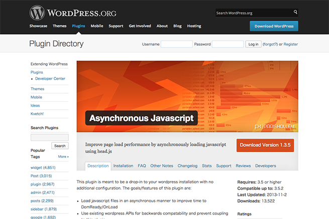 WordPress › Asynchronous Javascript « WordPress Plugins
