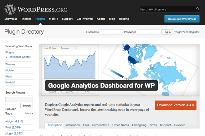 WordPress › Google Analytics Dashboard for WP « WordPress Plugins