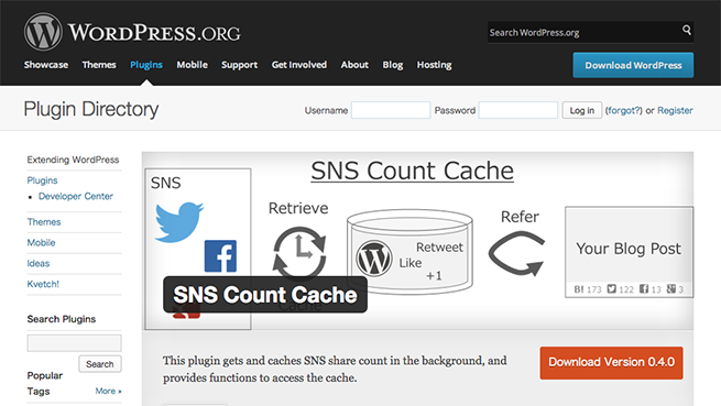 WordPress › SNS Count Cache « WordPress Plugins