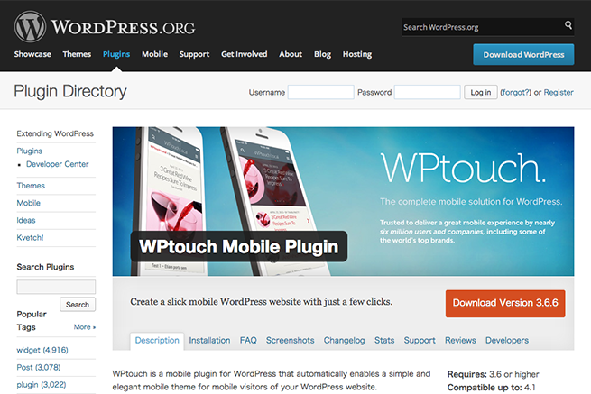 WordPress › WPtouch Mobile Plugin « WordPress Plugins