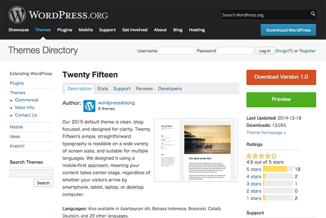 WordPress › Twenty Fifteen « Free WordPress Themes