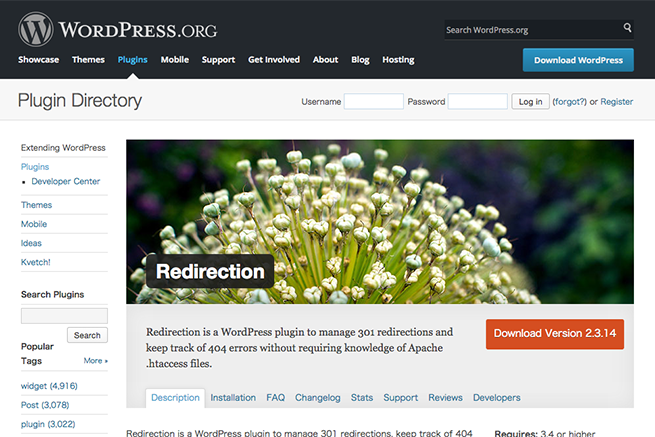WordPress › Redirection « WordPress Plugins