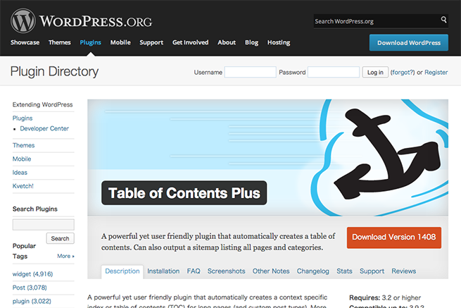WordPress › Table of Contents Plus « WordPress Plugins