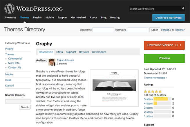 WordPress › Graphy « Free WordPress Themes