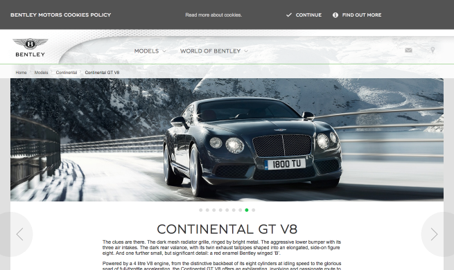 The Continental GT V8 luxurious grand touring with V8 attitude
